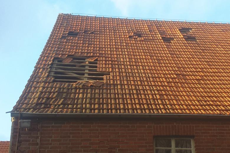 Schnelle Beseitigung von Sturmschäden vom Dachdeckermeister Philipp Hölker aus Altenberge